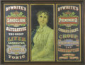 Advertising:Medicinal, Dr. White's Medicinal Cures Original Sign. Advertising the newest in turn of the century cures for liver disease, coughs, co...