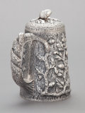 Silver Holloware, American:Tankards, AN S. KIRK & SON COIN SILVER COVERED TANKARD. Samuel Kirk &Son, Baltimore, Maryland, circa 1880. Marks: S. KIRK &SON (...