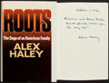 Books:Literature 1900-up, Alex Haley. Roots. Doubleday, 1976. First edition.Inscribed. From a private collection in North Carolina....