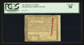 Colonial Notes:Massachusetts, Massachusetts May 5, 1780 $3 Uncancelled PCGS Very Fine 30.. ...