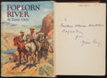 Books:Literature 1900-up, Zane Grey. Forlorn River. Harpers, 1917. First edition.Inscribed. From a private collection in North Carolina...