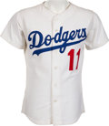 Baseball Collectibles:Uniforms, 1970's Manny Mota Game Worn Los Angeles Dodgers Jersey....