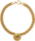 Luxury Accessories:Accessories, Chanel Gold Medallion Chain Necklace. ...
