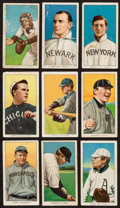 "Baseball Cards:Lots, 1909-11 T206 White Borders Tobacco Card Collection (9) - All ""Polar Bear"" Brand Backs! ..."