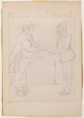 Books:Original Art, John Tenniel, artist (1820-1914). Two Original Pencil Sketches. Oneis initialed by the artist.... (Total: 2 Items)