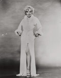 Photographs:Gelatin Silver, UNKNOWN ARTIST. Untitled (Marilyn in Feathered Robe). Gelatin silver. 9-1/4 x 7-3/4 inches (23.5 x 19.7 cm). Inventory l...