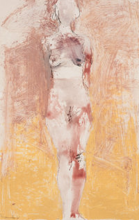MANUEL NERI (American, b. 1930) Untitled, #10 (Nude), 1995 Oil-paint stick, dry pigment and charcoal