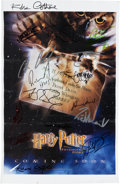 Books:Prints & Leaves, Original Harry Potter and the Philosopher's StoneMini-Poster Signed by Sixteen Cast Members. 11 x 17 inches. Th...