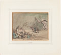 "Books:Original Art, Henry Wigstead (1770?-1800), artist. Original Caricatures:""Political Puppets"". 10.5 x 8 inches, matted to an overall sizeo..."