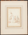"Books:Prints & Leaves, Thomas Rowlandson (1756-1827), artist. Original Drawing: ""TheLaundry"". Signed by Rowlandson...."