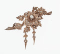 Estate Jewelry:Brooches - Pins, Antique Diamond, Gold, Silver Brooch. ...