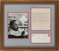 "Books:Literature 1900-up, Tennessee Williams. Typed Letter Signed (signed as ""10""). [St.Louis, MO]: 11/15/69. Matted and framed with the original mai..."