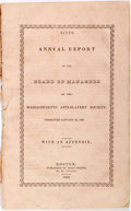 Books:Americana & American History, [Massachusetts Anti-Slavery Society]. Sixth Annual Report of theBoard of Managers of the Massachusetts Anti-Slavery Soc...
