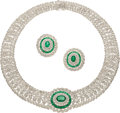 Estate Jewelry:Suites, Diamond, Emerald, White Gold Jewelry Suite. ... (Total: 2 Items)