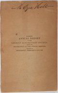 Books:Americana & American History, [Vermont Anti-Slavery Society]. Fourth Annual Report of theVermont Anti-Slavery Society. Brandon, 1838. Printed wra...