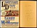 Books:Literature 1900-up, Larry McMurtry. Lonesome Dove. New York: Simon and .Schuster, [1985]. Later printing. Inscribed by the author...