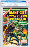 Bronze Age (1970-1979):Superhero, Giant-Size Super-Villain Team-Up #1 (Marvel, 1975) CGC NM+ 9.6 Off-white pages....