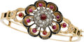 Estate Jewelry:Bracelets, Victorian Ruby, Diamond, Enamel, Gold Bracelet. ...