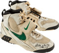 Football Collectibles:Others, 1994 Reggie White Game Worn, Signed Turf Shoes - 12/4/94 at Detroit....
