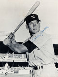 Baseball Collectibles:Photos, 1970's Baseball Greats Signed Oversized Photos Including Mantle/DiMaggio Lot of 4. ...