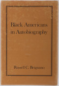 Books:Reference & Bibliography, Russell C. Brignano. Black Americans in Autobiography. AnAnnotated Bibliography of Autobiographies andAutobiographical...