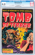 Golden Age (1938-1955):Horror, Tomb of Terror #15 (Harvey, 1954) CGC VG 4.0 Cream to off-whitepages....