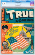 Golden Age (1938-1955):Non-Fiction, True Comics #15 (True/Parents Magazine Press, 1942) CGC VG- 3.5Cream to off-white pages....