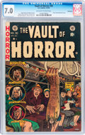 Golden Age (1938-1955):Horror, Vault of Horror #30 Bethlehem pedigree (EC, 1953) CGC FN/VF 7.0Off-white to white pages....