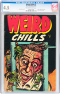 Golden Age (1938-1955):Horror, Weird Chills #2 (Key Publications, 1954) CGC VG+ 4.5 Off-white towhite pages....
