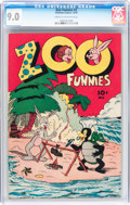 Golden Age (1938-1955):Funny Animal, Zoo Funnies #2 (Charlton, 1945) CGC VF/NM 9.0 Cream to off-whitepages....