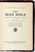 Books:Religion & Theology, [Bible] The Holy Bible Authorized or King James Version. Philadelphia: John C. Winston, [no date]. Illustrated. ...