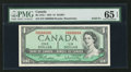 Canadian Currency: , BC-37b-i $1 1954 Solid Six Serial Number . ...