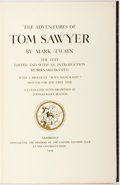 Books:Literature 1900-up, Mark Twain. LIMITED EDITIONS CLUB. The Adventures of TomSawyer. Cambridge: Limited Editions Club, 1939. Limit...