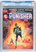 Magazines:Superhero, Marvel Super Action #1 The Punisher (Marvel, 1976) CGC NM 9.4Off-white to white pages....