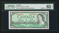 Canadian Currency: , BC-37b-i $1 1954 Solid Three Serial Number. ...