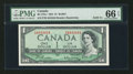 Canadian Currency: , BC-37b-i $1 1954 Solid Four Serial Number. ...