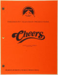 Entertainment Collectibles:TV & Radio, [Production Script]. Cheers. Shooting script for secondseason episode, Cliff's Rocky Moment, written ...