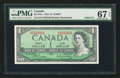 Canadian Currency: , BC-37b-i $1 1954 Solid Five Serial Number. ...