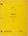 Entertainment Collectibles:TV & Radio, [Production Script]. Dallas. Shooting script for fifthseason episode, Sweet Smell of Revenge, written...