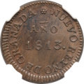 Colombia, Colombia: Copper Provisional 8 Reales 1813,...