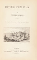 Books:Literature Pre-1900, Charles Dickens. Pictures from Italy. London: Bradbury and Evans, 1846. First edition....