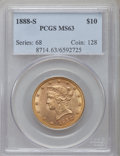 Liberty Eagles: , 1888-S $10 MS63 PCGS. PCGS Population (141/3). NGC Census: (76/4).Mintage: 648,700. Numismedia Wsl. Price for problem free...