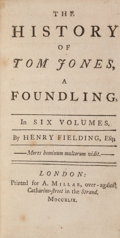 Books:Literature 1900-up, Henry Fielding. The History of Tom Jones, A Foundling.London: Printed for A. Millar, 1749. First edition, first...(Total: 6 Items)