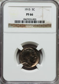 Proof Buffalo Nickels: , 1915 5C PR66 NGC. NGC Census: (94/37). PCGS Population (141/54).Mintage: 1,050. Numismedia Wsl. Price for problem free NGC...