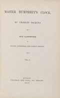 Books:Literature Pre-1900, Charles Dickens. Master Humphrey's Clock. London: Chapmanand Hall, 1840-1841. Three first edition volumes in on...