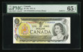 Canadian Currency: , BC-46a $1 1973 Solid Five Serial Number. ...