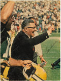 Football Collectibles:Photos, 1960's Vince Lombardi Signed Magazine Photograph. ...
