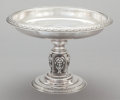 Silver Holloware, American:Tazze, A WILLIAM GALE JR. SILVER FOOTED TAZZA. William Gale, Jr., NewYork, New York, dated 1866. Marks: WM. GALE. JR, (1866 wi...