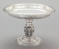 A WILLIAM GALE JR. SILVER FOOTED TAZZA William Gale, Jr., New York, New York, dated 1866 Marks: WM. GALE. JR
