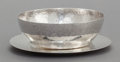 Silver Holloware, American:Bowls, A FRANKLIN PORTER SILVER BOWL AND UNDERPLATE. Franklin Porter,Danvers, Massachusetts, circa 1930. Marks to bowl: F. Porte...(Total: 2 Items)